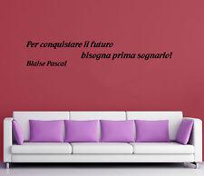WALL STICKERS ADESIVI MURALI Blaise Pascal Aforismi Frasi Famose Parete Amore