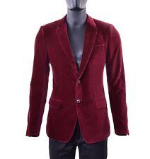 DOLCE & GABBANA Samt Blazer Sakko Bordeaux Rot Tuxedo Jacket Red 05257