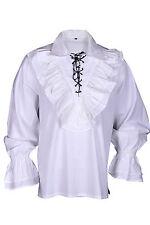 Renaissance Pirate Casual Captain JACK Shirt Medieval Caribbean Costume Men