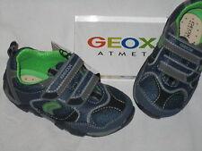 GEOX HalbSchuhe Sneaker Klettschuhe Sport Schuhe dunkelblau grün B3265D