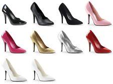 PLEASER Seduce-420 Patent PU Pointed Dress Work Large Plus Size Heels Pumps 4-15