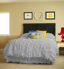Waterfall Corner Ruffle 5 PC Duvet Cover Set 1000 TC Egyptian Cotton King Size