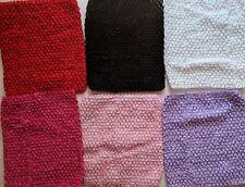 "10pc Crochet Waffle Tutu Tops,9"",Black,White, Pink,Red,Purple,Girls,Whol esale Lot"