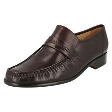 Herren Grenson Burgund Leder Slipper Style - Clapham
