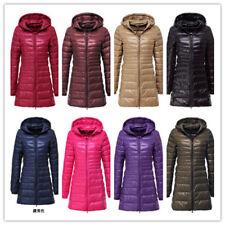 NEW Women's UNIQLO'S Ultralight Long Down Hooded Jacket Puffer Parka Coat S-3XL#