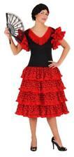 Flamenco Kostüm Kleid Damen Lady Spanierin Seniora Spanier Seniorita Rüschen