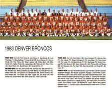 1983 DENVER BRONCOS NFL FOOTBALL TEAM PHOTO