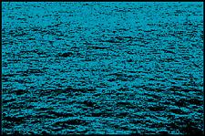 Fußmatte Schmutzfangmatte waschbar Gummirand 90x60 cm Maritim Wasser