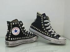 Converse all star Hi borchie e teschi scarpe donna uomo nero vintage artigianali