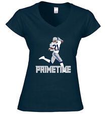 "V-NECK Ladies Deion Sanders Dallas Cowboys ""Prime Time"" jersey shirt"