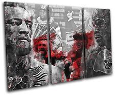 McGregor Mayweather UFC Boxing Sports TREBLE LONA pared arte Foto impresion