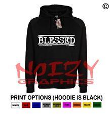 Blessed #3 Christian Hoodie Black Sweatshirt Jesus Religious Hip Hop Rap Worship