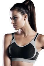 Anita Active Soutien-gorge de Sport sans Armature Maintien Ferme 5527 Noir Blanc