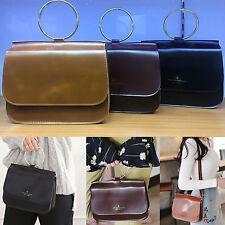 Korea New Fashion Women Slim O Ring Mini Tote Cross Bag Handbag Lady Girl Party
