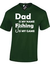 PAPA 'è il mio nome Pesca Da Uomo T-Shirt Divertente Regalo idea per Padre Pescatore