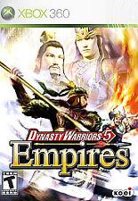 Dynasty Warriors 5: Empires (Microsoft Xbox 360, 2006) VERY GOOD