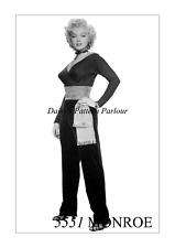 1950 Vintage Marilyn Monroe Sewing Pattern Crossover Green Top Cummerbund Daisys