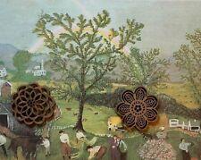Vtg Grandma Moses Art Print American Folk New England FARM LIFE *** SEE VARIETY