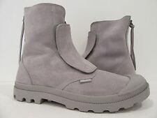 Palladium men's Suede pampa hi sopopular Ankle Boots ash/white