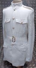 militaire armée britannique No3 blanc robe veste avec ceinture -