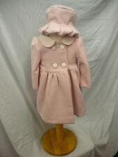 Abella tradizionali Inverno Cappotto e Cappello Rosa/Cream Foderato Età 6-12mth o 12-18mth