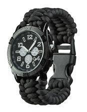"Mil-Tec Army Uhr ""Paracord"" Chronograph Armbanduhr Schwarz Edelstahl"