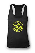 OM espiritual Camiseta Para Gimnasio Dama Espalda Cruzada Yoga Entrenamiento