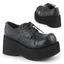 DEMONIA Women's Lace Up Star High Platform Wedge Oxford Shoes DANK-111