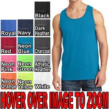 BIG MENS Solid Tank Top 100% Preshrunk Cotton Includes NEONS 2XL 3XL 4XL NEW