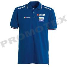 polo yamaha factory movistar cotone tricolore corse italia racing maglietta