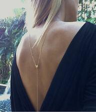 Bikini heart love BACK CHAIN HARNESS  Crossover Belly Waist Body Chain Necklace