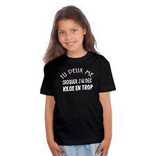 T-shirt ENFANT FILLE TU PEUX ME CROQUER J'AI DES KILOS EN TROP