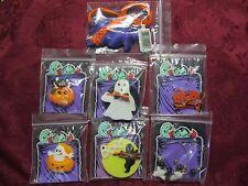 Set of 7 Pcs Halloween Earrings Necklace Pins Pumpkin Ghost Cat Pins
