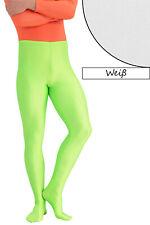 Herren Leggings mit Fuss weiß Voltigierhose Glanz elastisch Größen S - XL