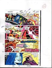 Original 1988 Avengers 296 Marvel Comics color guide art page 29: Thor/She-Hulk