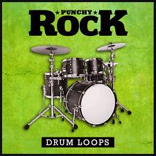Punchy Rock Drum Loops (24-bit WAV) Cubase Logic Pro Tools Sonar Garageband etc.