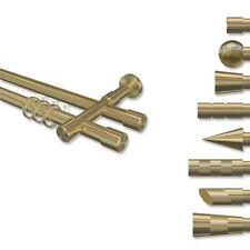 Rohr-Innenlauf Gardinenstangen Messing Optik / 2-läufig 20 mm Ø - Interdeco