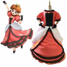Super Mario Princess Daisy Adult Costume Peach Bros Cosplay Dress