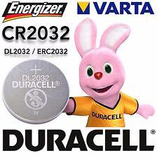 Varta Duracell Energizer CR2032 DL2032 ERC2032 3 Volt
