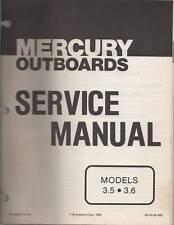 1974-85 MERCURY OUTBOARD 3.5 & 3.6  MODELS  MANUAL