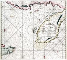 Reproduction carte ancienne - Yucatan, Bélize et Honduras en 1684