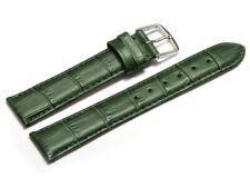 Uhrenarmband Leder Kroko Prägung grün 8,10,12,14,16,18,20,22 mm NEU