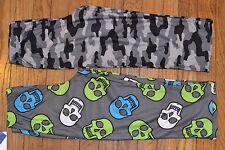 Boys UP LATE  Sleepwear Pajama Bottoms Flame Resistant Skulls or Camo You choose