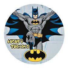 Cialda BATMAN DC COMICS  Decorazione Torta Ostia o Zucchero con NOME 03