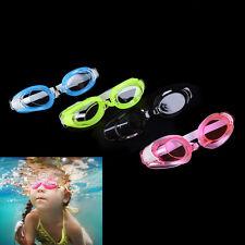 Kids Swimming Goggles Pool Beach Sea Swim Glasses Children Ear Plug Nose Clip JR