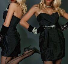 SEXY MISS Femmes Bandeau Glam Pierres Mini Robe de soiree dress 34 36 38 40 Noir