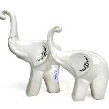Keramik Dekofigur Figur Elefant Statue Skulptur in 2 Größen- Swarovski Kristalle