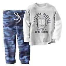 Carters Infant Boys Baseball Home Run Slugger Gray Shirt & Pants 2 Pc Outfit