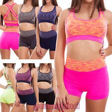 Conjunto de lencería mujer deporte shorts top cruce raza pantalones cortos 7040