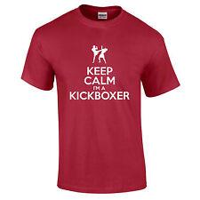 Keep Calm I'm A Kickboxer UFC Martial arts MMA Funny Gift T-Shirt S-5XL